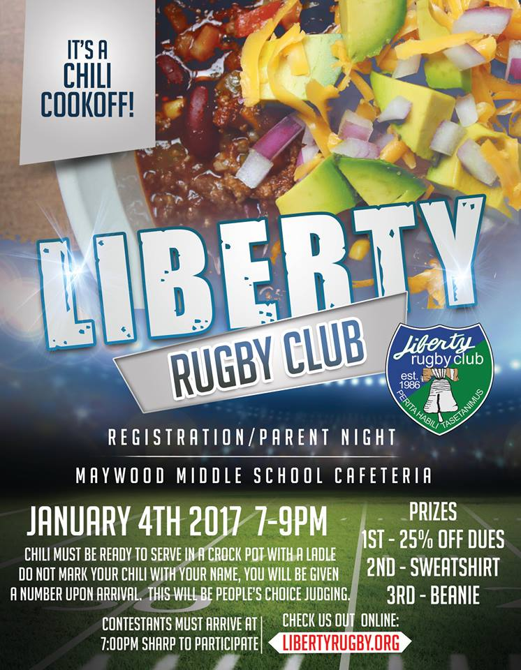 Registration Night & Chili Cook Off @ Liberty High School Commons